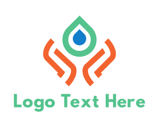 Aqua - Water & Care logo design
