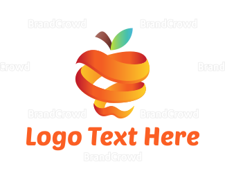 Green And Orange - Orange Apple logo design