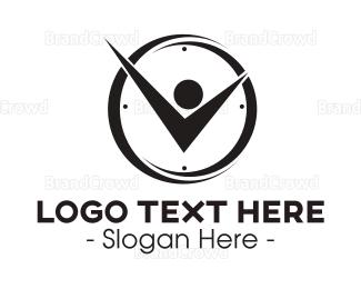 Second - Clock Man logo design