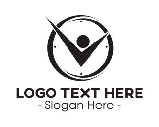Clock - Clock Man logo design