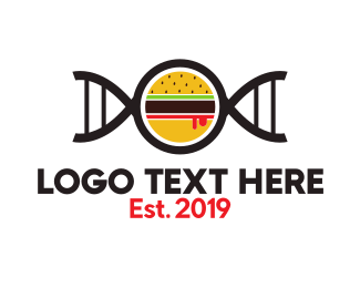 Dna - Burger Gene logo design