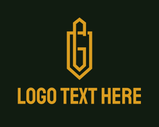 G - Gold Shield Letter G logo design