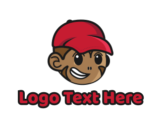 Early Learning Center - Monkey Boy logo design