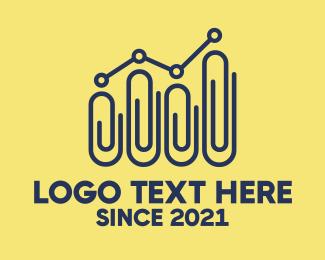 Economist - Paper Clip Statistics logo design