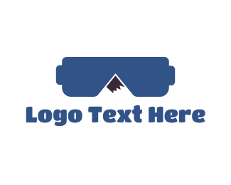 Vr - VR Mountain Gaming logo design