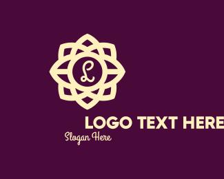 Hotel - Elegant Flower Lettermark logo design