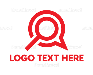 Search - Magnifying Glass logo design