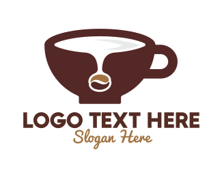 Coffee Maker - Coffee Bean Spill logo design
