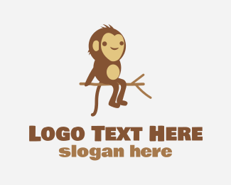 Monkey - Cheeky Monkey Tree logo design