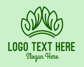 Nature Park - Nature Leaf Crown  logo design
