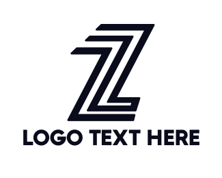 Team Emblem - Black Modern Z  logo design