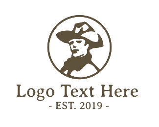 Steak - Vintage Cowboy logo design