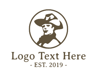 Cowgirl - Vintage Cowboy logo design
