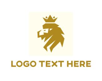 Lion King - Modern Lion King logo design