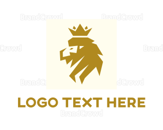 Carnivore - Modern Lion King logo design
