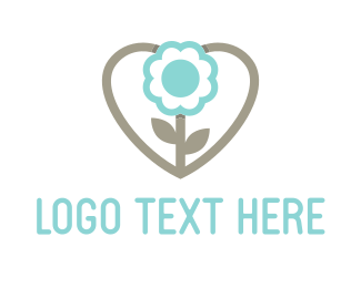 Health Care - Love Flower logo design