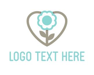 Gardener - Love Flower logo design