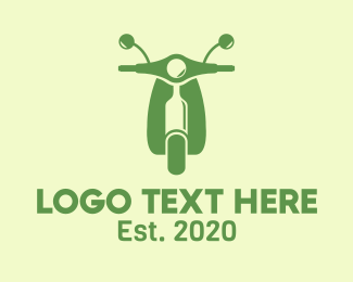 Alcohol Delivery - Wine Bottle Scooter logo design