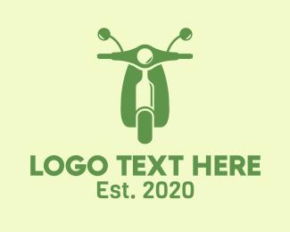 Alcohol - Wine Bottle Scooter logo design