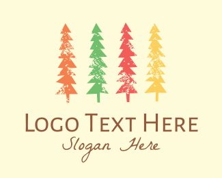Camping - Colorful Trees logo design