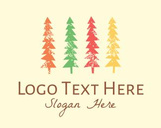 Camp - Colorful Trees logo design