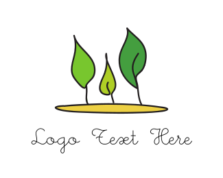 Gardening - Three Leaves logo design