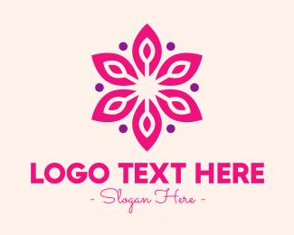 Cologne - Pink Flower Blossom logo design
