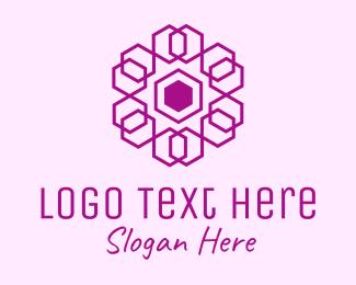 Mandala - Purple Hexagon Mandala logo design