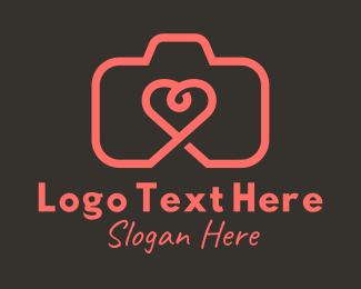 Photography - Heart Camera logo design