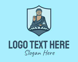 Landmark - Buddhism Temple Landmark logo design