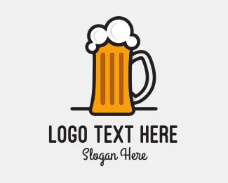 Bourbon - Beer Mug logo design