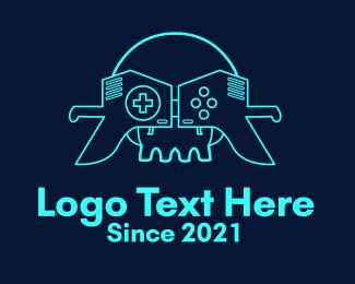 Savage - Skull VR Controller logo design