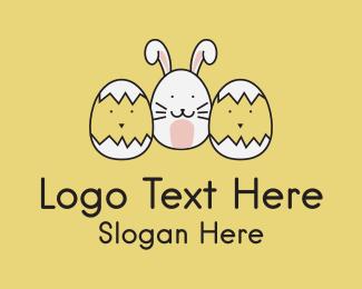 Easter - Easter Bunny Chicks  logo design