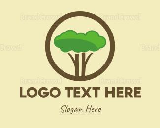 Apps - Green Tree Circle logo design