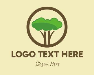 Apps - Round Tree Cloud Safari logo design