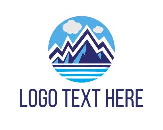 Glacier - Blue Glacier logo design