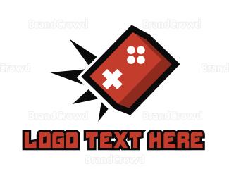 Explode - Game Brick Smashers logo design