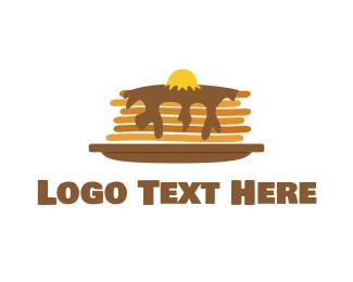 Crepe - Fluffy Pancakes logo design