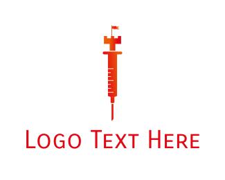 Shot - Royal Injection logo design
