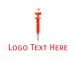 Clinical - Royal Injection logo design