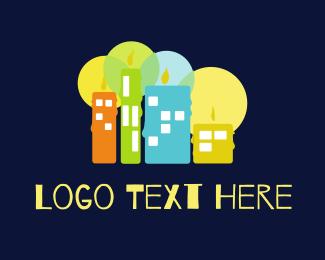 Town - Candle City logo design