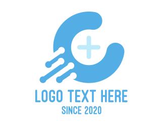 Biotech - Blue Medical C logo design