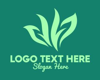 Herb - Green Organic Herb logo design