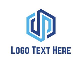 Drain - D & P Cube logo design