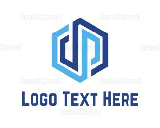 Storage - D & P Cube logo design