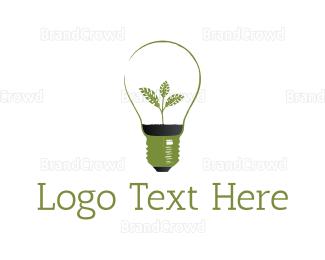 Renewable - Green Bulb logo design