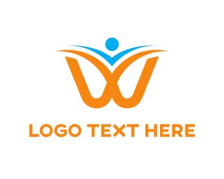 Symmetry - Flying W logo design