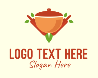 Home Cook - Organic Cooking Pot logo design