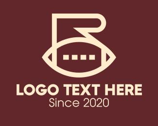 Rugby Club - American Football Letter R logo design