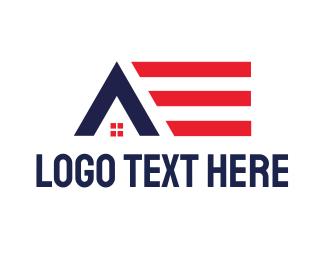 Airbnb - American House logo design